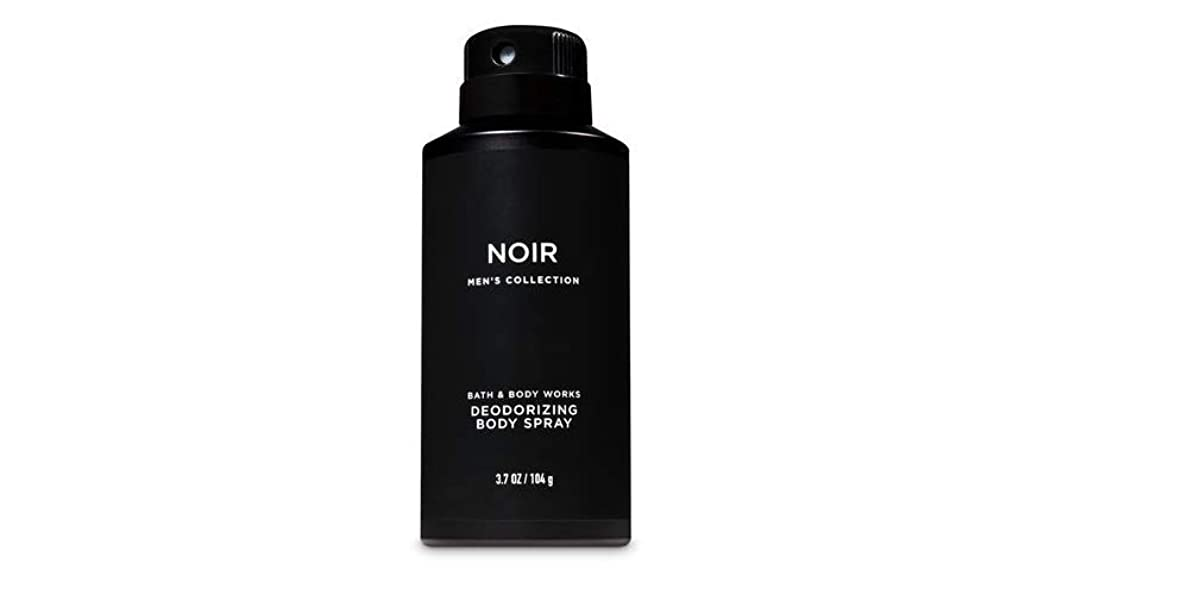 意気消沈したパスポート繕う【並行輸入品】Bath and Body Works Signature Collection for Men Noir Deodorizing Body Spray 104 g
