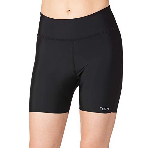 Terry Women's New Chill 5 inch Padded Compression Bike Short - No Leg Bands, No Bulge, No Pinch! – Black – Medium