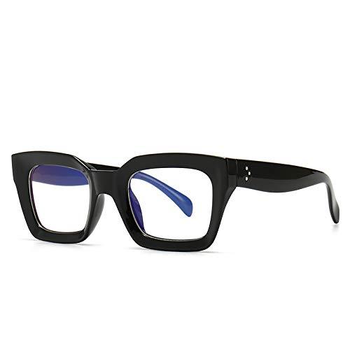 Gafas de sol modernas, modelo cuadrado, gafas de sol polarizadas para mujeres, hombres y mujeres, gafas de sol Uv400, C2 Negro Transparente,