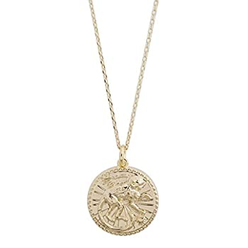 HONEYCAT Chinese Zodiac Coin Necklace in Gold Rose Gold or Silver | Minimalist Delicate Jewelry  Gold Monkey