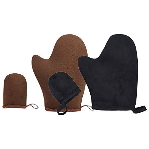 EXCEART Zelfbruinende Applicator Tan Handschoen Bruiningshandschoen Applicator Met Duim en Gezicht Applicator Handschoen Zonloze Zelfbruiner Handschoen Tool Set Voor Zelfbruiner 4 Stuks