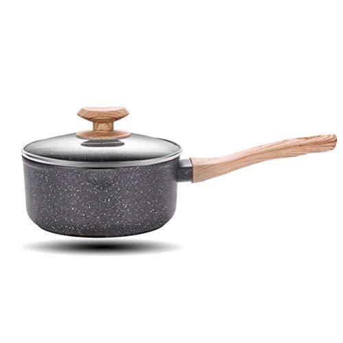 Pan de cerámica de la leche de cerámica Cocinar la salsa multifunción del hogar Pan para la cocina o el restaurante del hogar, rosa DAGUAI