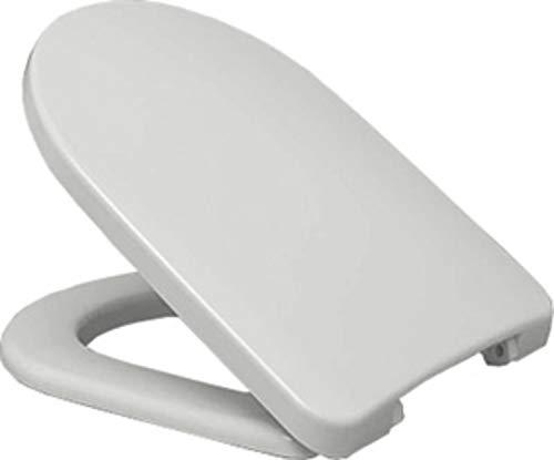 WC-Sitz clivia für WC ohne Spülrand mit Deckel weiss softclose