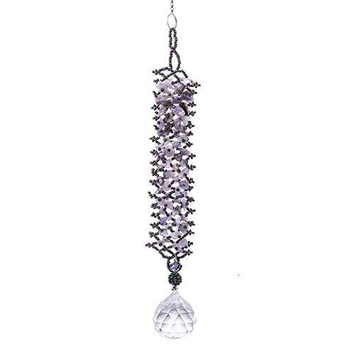 YSMLL Ventana Colgando el Cazador de Sol con la Pulsera de la joyería Colorida Chakra Cristales Decorativos Fabricante de Arco Iris para el hogar, decoración del jardín 30mm (Color : A)