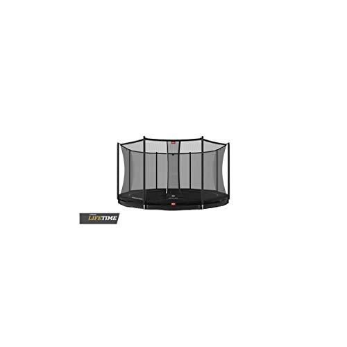BERG Favorit Trampoline InGround 430 cm schwarz + Safety Net Comfort | Premium Trampolin, Hohe Qualität Kinder Trampolin, Robust und Sicher, Rund