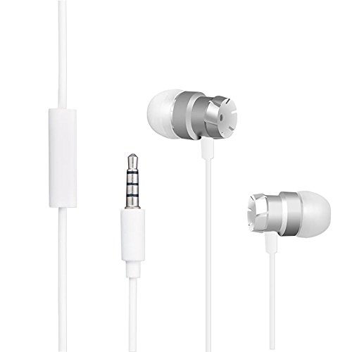 Auriculares con Cable, Auriculares In ear para Blackview BV6000 / BV7000 / BV8000 Pro, 3.5mm Jack Más largo y Control Remoto para Rugged Smartphone