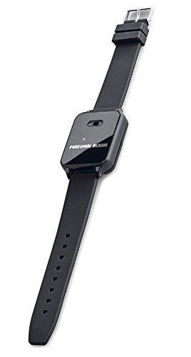 120dB Alarm-Armband, Alarmsirene und Blitzlicht am Handgelenk, im Notfall mit Fingertipp aktiviert (Schwarz)