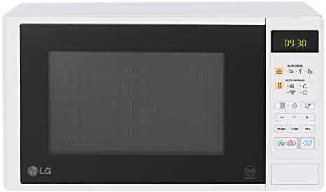 LG MS2042DW - Horno microondas i-Wave 20 litros, 700 W, programas automáticos, Dual Body, pantalla LED, plato giratorio – Blanco