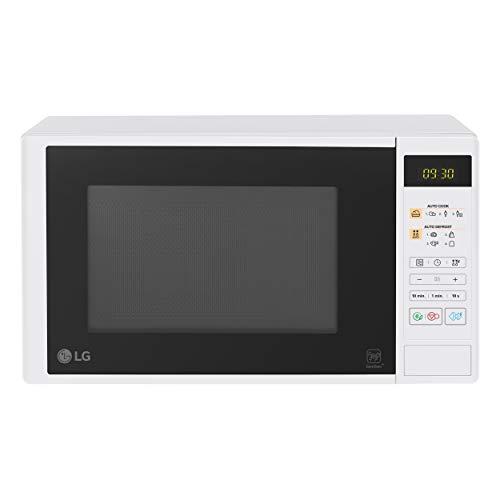 LG MS2042DW - Horno microondas i-Wave 20 litros, 1000 W, cavidad anti bacteriana EasyClean, programas automáticas, Dual Body, pantalla LED, plato giratorio – Blanco