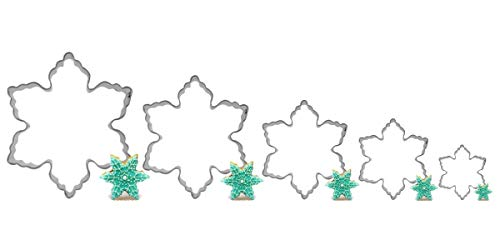 Snowflake Cookie Cutters Set--5 Pieces Differnent Sizes-Stainless Steel