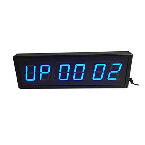 Temporizador de cocina Reloj de cuenta atrás del reloj gimnasio de Crossfit Intervalo pared temporizadores con control remoto inalámbrico Tabata EMOTM cronómetro de cuenta atrás Countup reloj puede se
