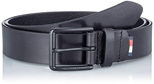 Tommy Hilfiger Roller Buckle 3.5 Cinturón, Negro (, 115 para Hombre