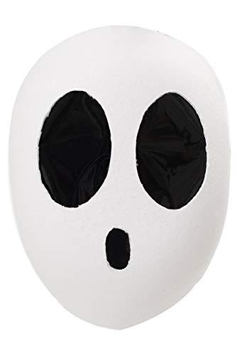 Mario Shy Guy Super Kawaii Weiß Maske Tanzmaske Kopfbedeckung Helm Cosplay Herren