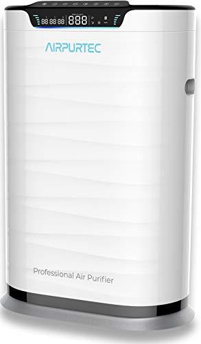 Airpurtec H600 Purificador de Aire Profesional con Filtro HEPA H13 EN1822 | Elevada Potencia CADR 600 m3/h | Avanzado con Control WiFi y Sensor de Calidad de Aire | Generador de Iones