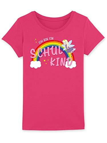 Shirtracer Einschulung und Schulanfang - Ich Bin EIN Schulkind Prinzessin - Mädchen T-Shirt (5-6 Jahre 110-116 cm, Rasperry)