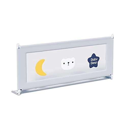barrera cama Shuai Niño 24 Alturas Regulables Protectores De Protección De Diseño De Elevación De Malla Transpirable Protección contra Caídas De Seguridad para El Tipo De Cama Empo(Size:Length 220cm)