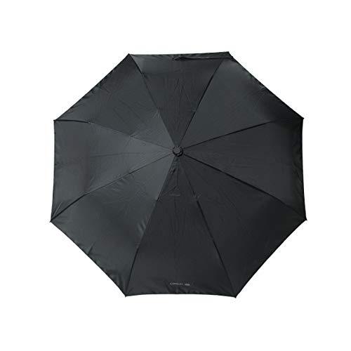 Cerruti 1881 Regenschirm »Mesh« Small Black | Automatisches Öffnen und Schließen | Herren Damen Taschenschirm Schwarz Klein