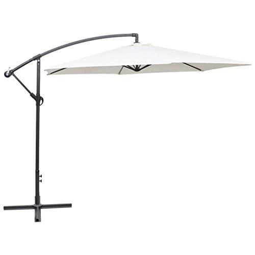 N/O Viel Spaß beim Einkaufen mit Freiarm-Sonnenschirm 3 m Sandweiß