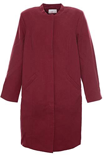 Sheego Kurzmantel Mantel Gehrock Jacke Damen Plusgröße, Farbe:rot, Damengrößen:48
