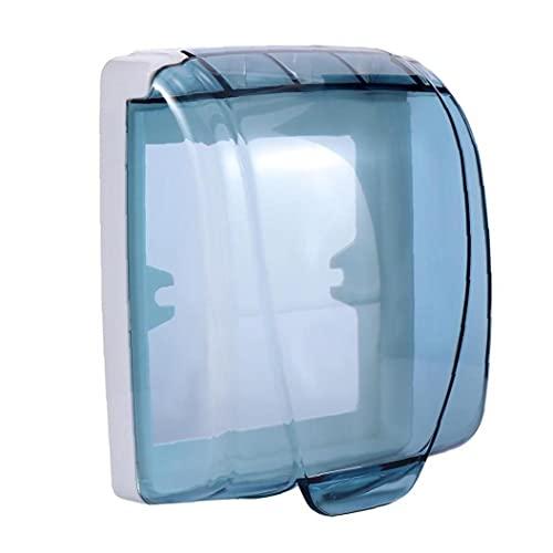 TOSSPER 1pc Pared De Plástico Impermeable Cambiar La Cubierta 86 Tipo De Pared De Luz Panel De La Caja del Zócalo Timbre Voltear Tapa Transparente Cubierta De Baño Cocina