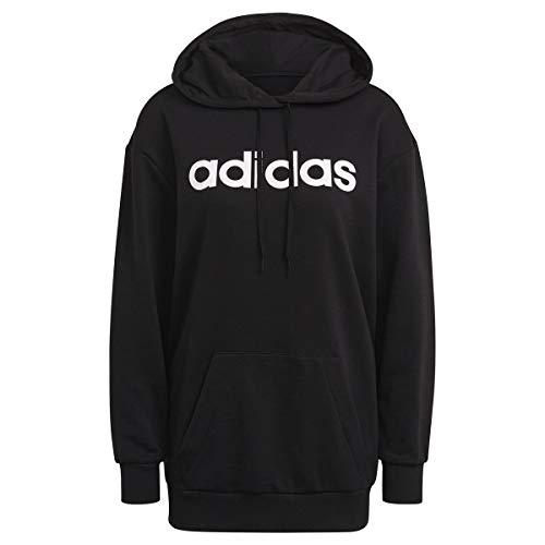 adidas GL0765 W Lin OV HD Sweat Womens Black/White M