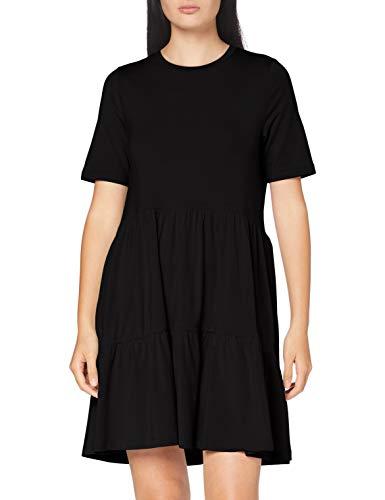 VERO MODA Damen VMJAVA SS Peplum Short Dress GA Kleid, Black, XL