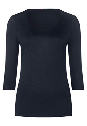 Street One Damen A313977 T-Shirt, deep Blue, 40