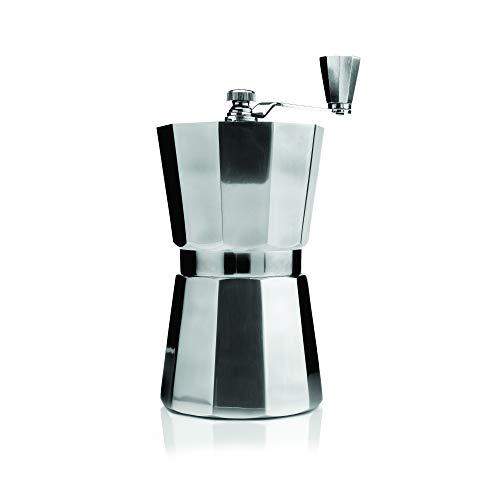 Moulin à café manuel Kilo C104 Mécanisme réglable, corps en aluminium poli - Hauteur 22 cm