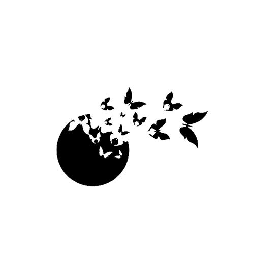 Vlinder speelse vliegen van autosticker vinyl pvc DIY voor ramen, bumper, laptop, koffer, wand, skateboard sticker sticker decoratie 13,7x20 cm (5 stuks)