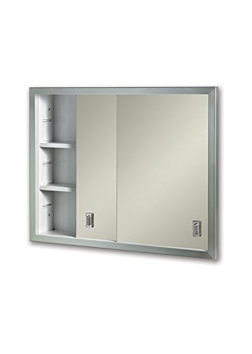 "Jensen B703850X Sliding Doors 24.625 by 19.1875 Medicine Cabinet, 24.62"" x 19.18"""