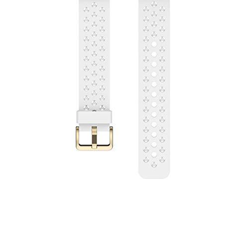 ZKCREATION Watch Band 20mm,Cinturino Orologio in Silicone Sgancio Rapido Cinturini di Ricambio W3 Smartwatch (Weiß)