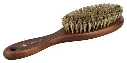 Cepillo de pelo con cerdas naturales extra suaves para un brillo sedoso. Calidad auténtica fabricada en Alemania.