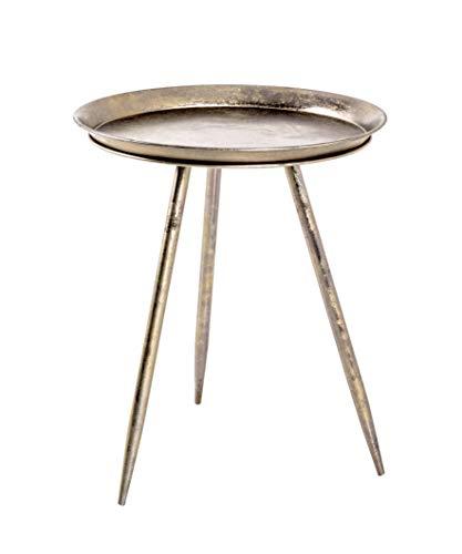 HAKU Möbel Beistelltisch, Metall, antikbronze, Ø 44 x 54 cm