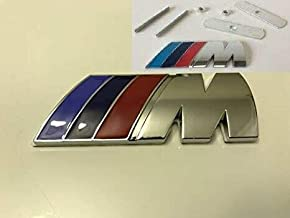 SFONIA Car 82MM+73MM Carbon Fiber Front Rear Bonnet Emblem Engine Hood Logo Trunk Badge