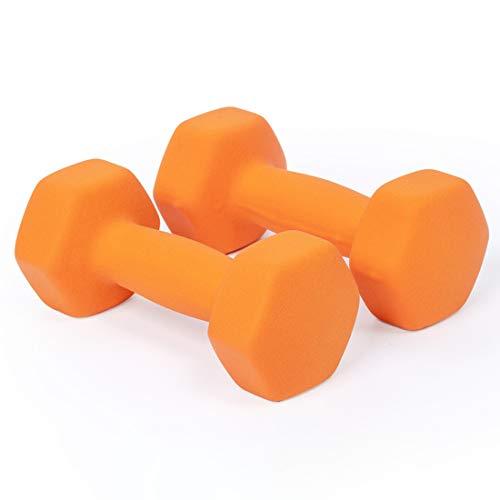 Halters Gewicht Set, Cast Iron Hex Color Domoor voor vrouwen en mannen, beschikbaar 1 kg / 1,5 kg / 2kg / 3KG / 4kg / 5KG, Kid Langhalterset voor Core en krachttraining