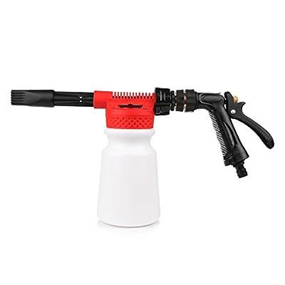 LemonBest® Snow Foam Lance, Car Cleaning Foam Gun Washing Foamaster Gun Water Soap Shampoo Sprayer 900ml by ABEDOE