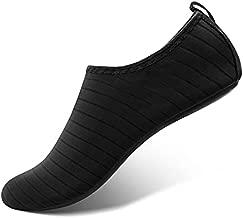 SEEKWAY Water Shoes Women Men Adult Quick-Dry Aqua Socks Barefoot Non Slip for Beach Swim River Pool Lake surf SK001(U) Black Size 9.5-10.5 W/8.5-9.5 M