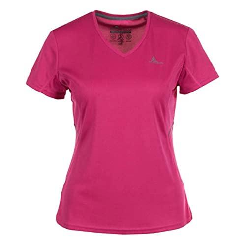 Peak Mountain ACRIM/ZE T-Shirt Manches Courte de randonnée Femme, Fushia, FR : M (Taille Fabricant : M)