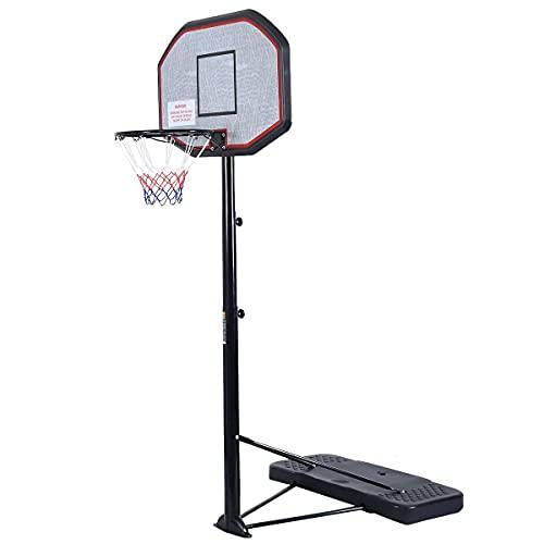 YRHH Soporte De Baloncesto, Altura Ajustable 2.2-3.05 M Sistema De Baloncesto con Soporte, Aro De Baloncesto para Niños Y Adultos, Soporte De Baloncesto Móvil para Exteriores