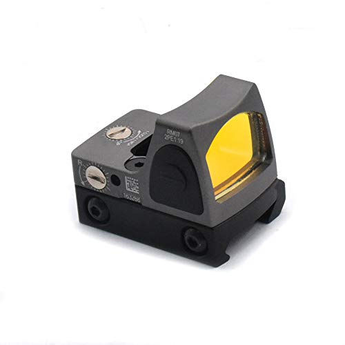 Haomingxing Einstellbarer LED roter Punkt,Red Dot Sight RMR 3-25 MOA Reflexvisier Einstellbare Helligkeit Pistolen-Bereich mit Berg(Grau)