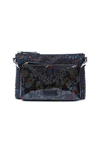 Desigual Fabric Body Bag, Bolsa para Cuerpo de Across para Mujer, Negro, U