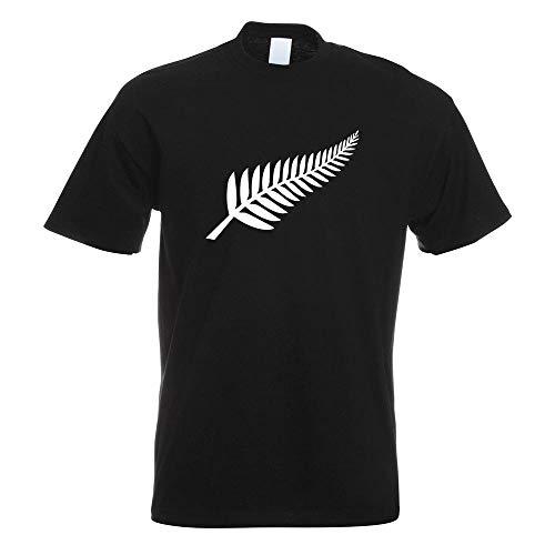 Kiwistar Silver Fern/Neuseeland/Kiwis T-Shirt in 15 Herren Funshirt Bedruckt Design Sprüche Spruch Motive Oberteil Baumwolle Print Größe S M L XL XXL