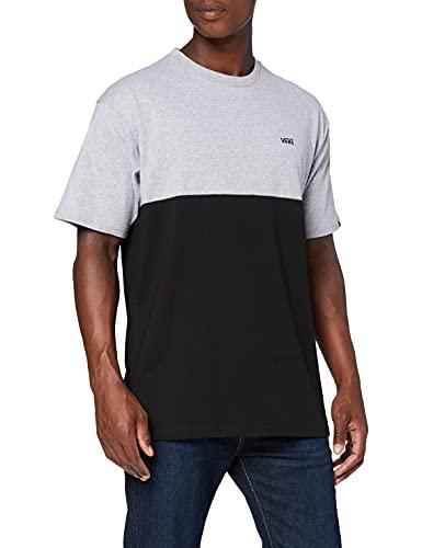 Vans Colorblock tee Camiseta, Athletic Heather-Negro, L para Hombre