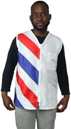 klave design barber vest size M WHITE