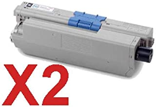 2 x Compatible OKI C301 C321 Black Toner Cartridge