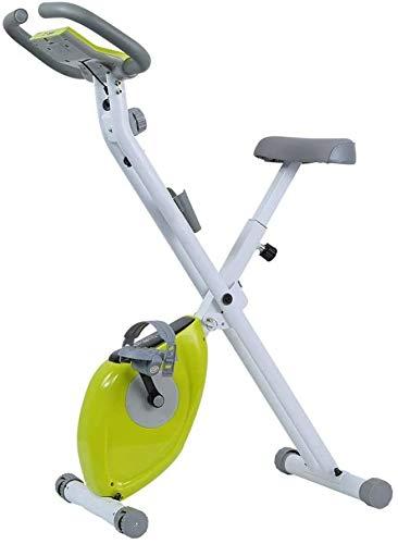 KOSGK Bicicletas Ejercicio para Uso doméstico, computadora Entrenamiento Plegable y Bicicleta elíptica con máquina Ejercicios cardiovasculares para Adelgazar Cardio