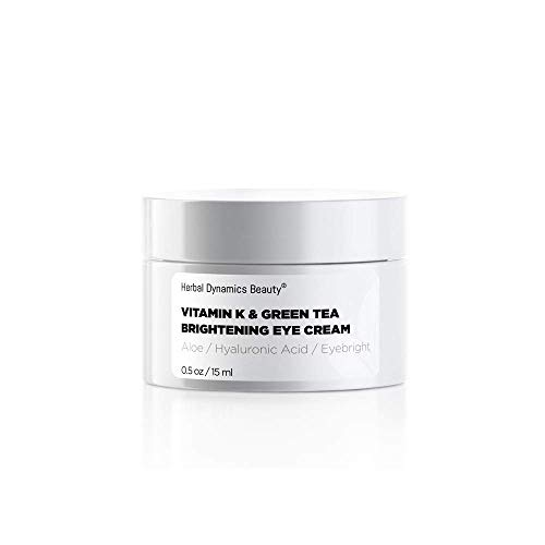 HD Beauty Vitamin K & Green Tea Brightening Eye Cream for Undereye...