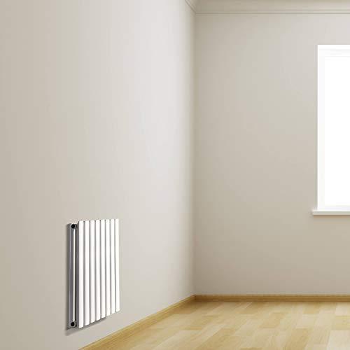 VILSTEIN Design Heizkörper, Wandheizkörper doppellagig, Mittelanschluss und Seitenanschluss, 600x480 mm, vertikal, Weiß
