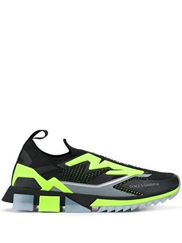 DOLCE E GABBANA Luxury Fashion Herren CS1823AW4788Q203 Schwarz Polyester Sneakers   Herbst Winter 20