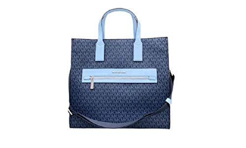 Michael Kors Kenly Large North South Tote PVC Leather Admiral MK Signature